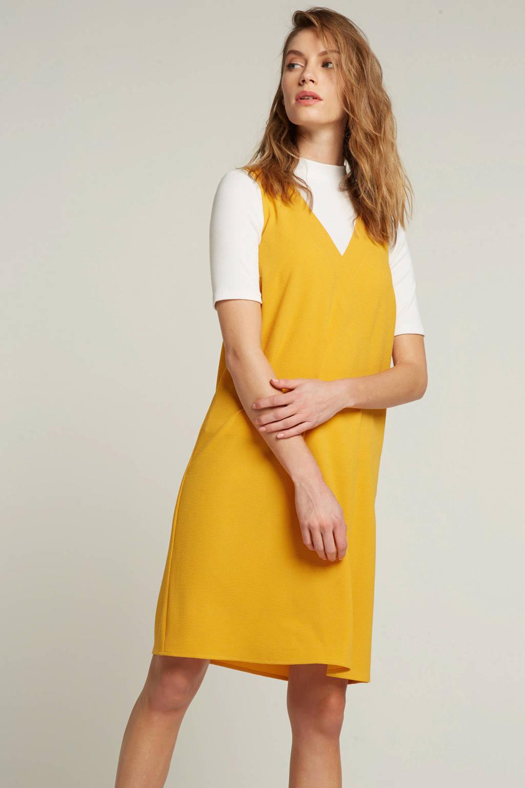 whkmp's own jurk met V-hals, Okergeel