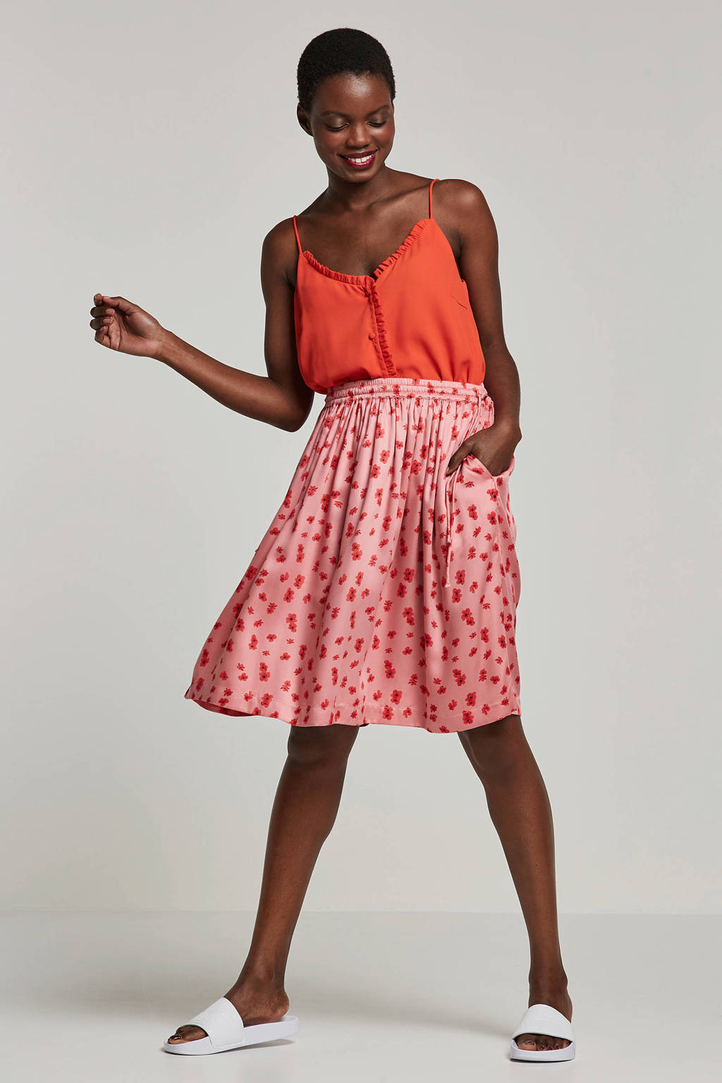 whkmp's own gerecyled polyester gevoerde zomertop, Rood