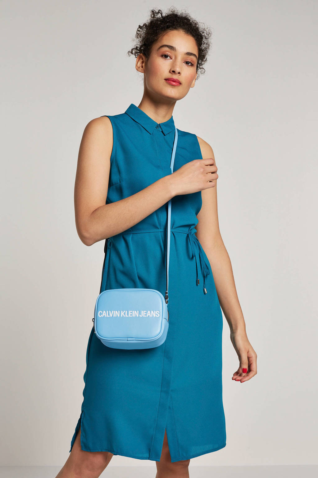 whkmp's own gerecycled polyester blousejurk (Waste to Wear), donker turquoise