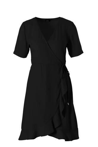 gerecycled polyester wikkel-look jurk