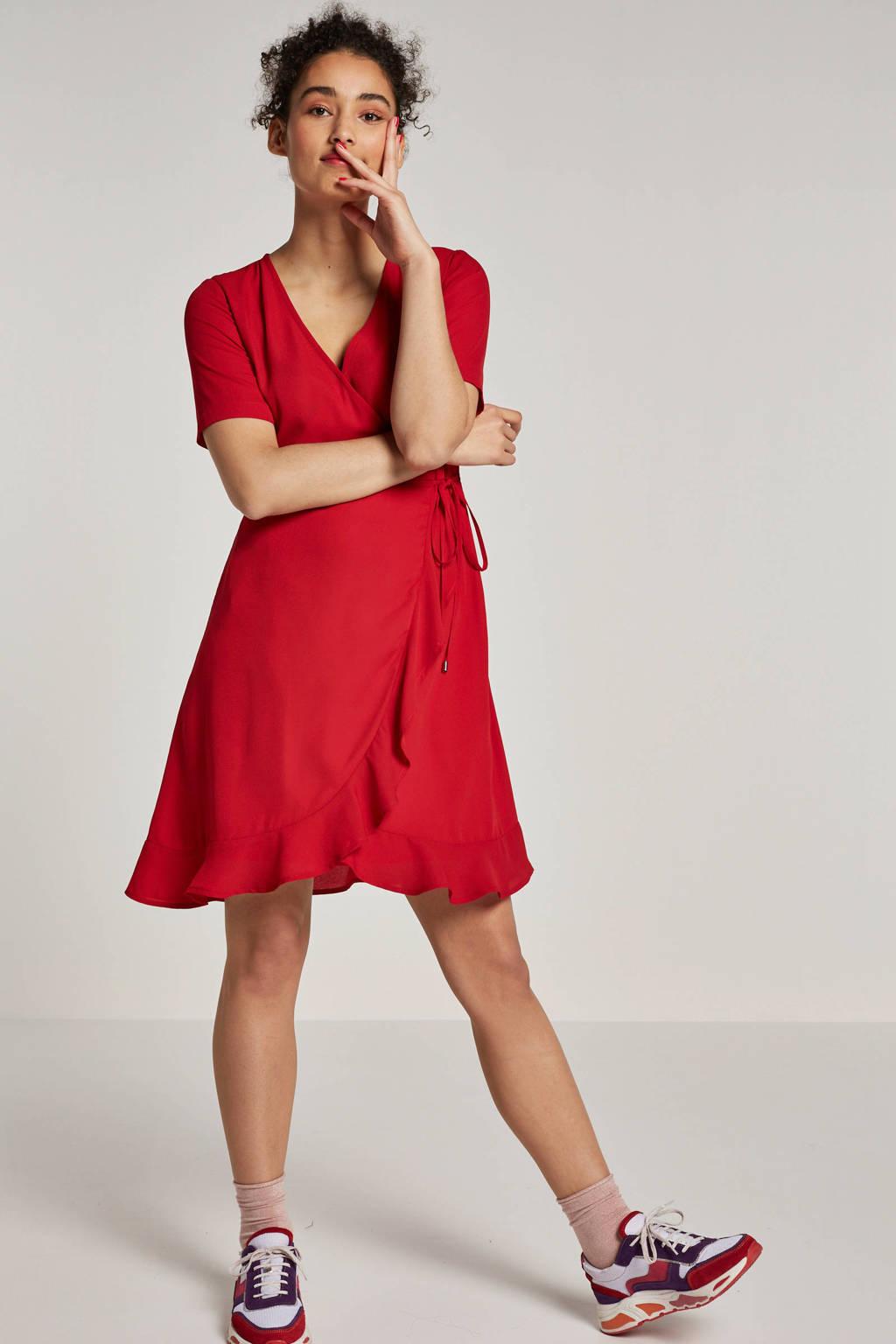 whkmp's own overslagjurk van gerecycled polyester rood, Rood