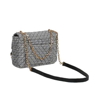 winkelen voor exclusieve deals fabriek Parfois geruite crossbody tas London To Paris zwart durable ...