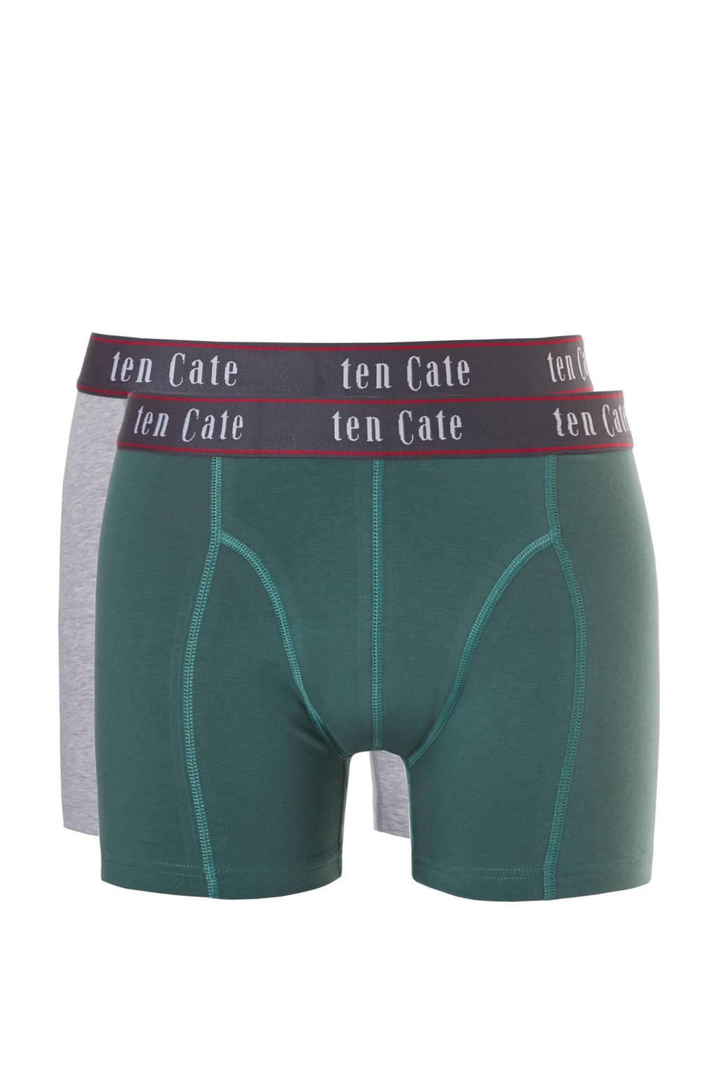 ten Cate boxershort (set van 2) groen/grijs, Groen/grijs