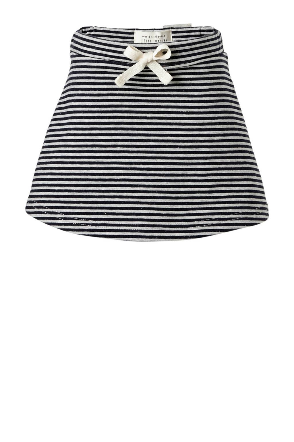 Little Indians gestreepte sweatrok Striped zwart/grijs, Zwart/grijs