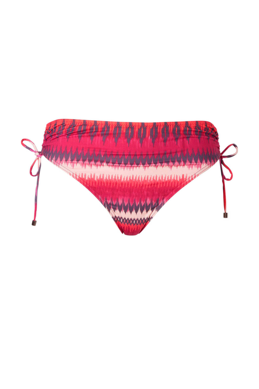 Cyell bikinibroekje high waist in all over print rood, Rood/oranje/wit