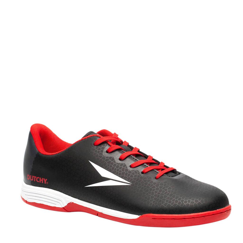 Scapino Dutchy zaalvoetbalschoenen zwart/rood, Zwart/rood