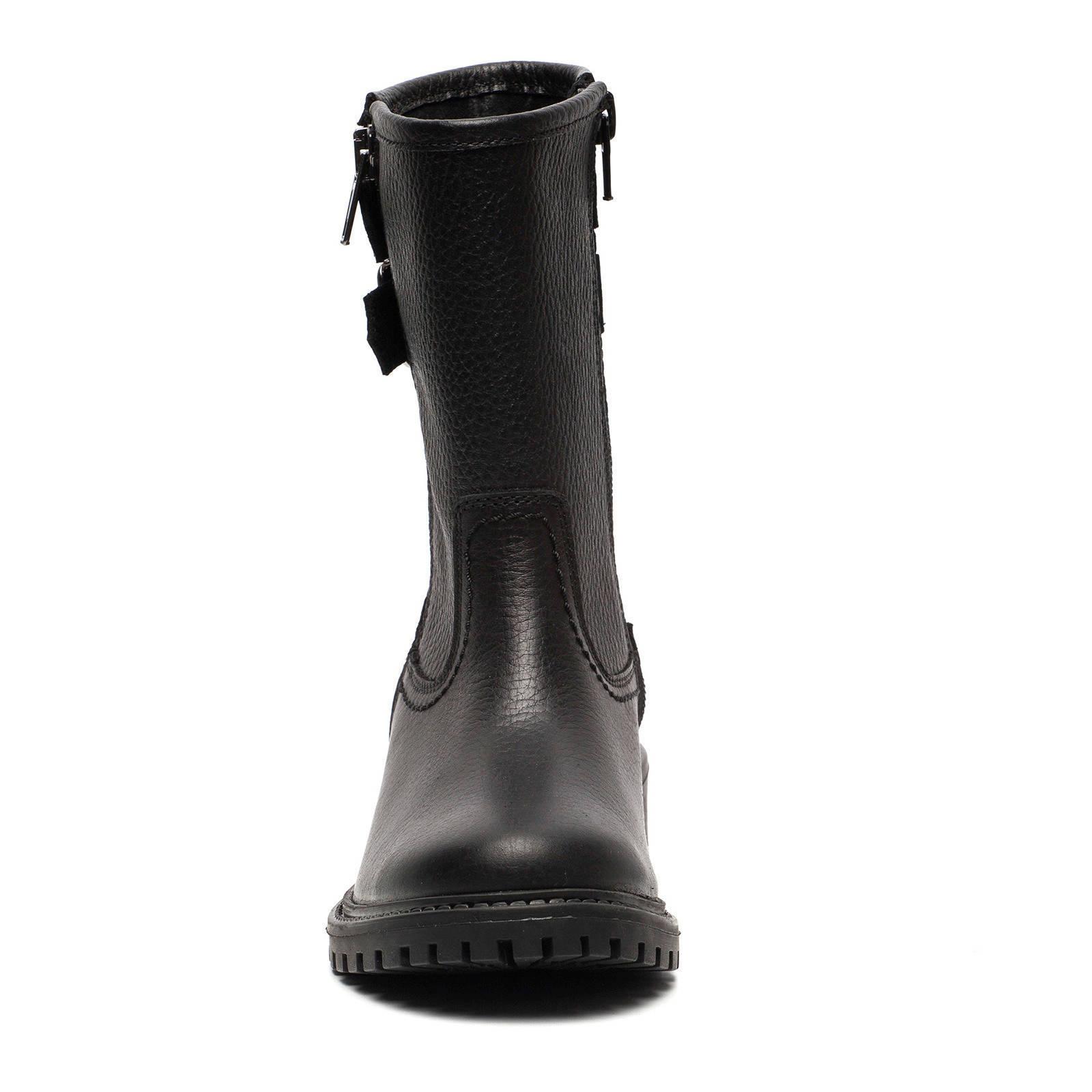 Scapino leren laarzen zwart | wehkamp