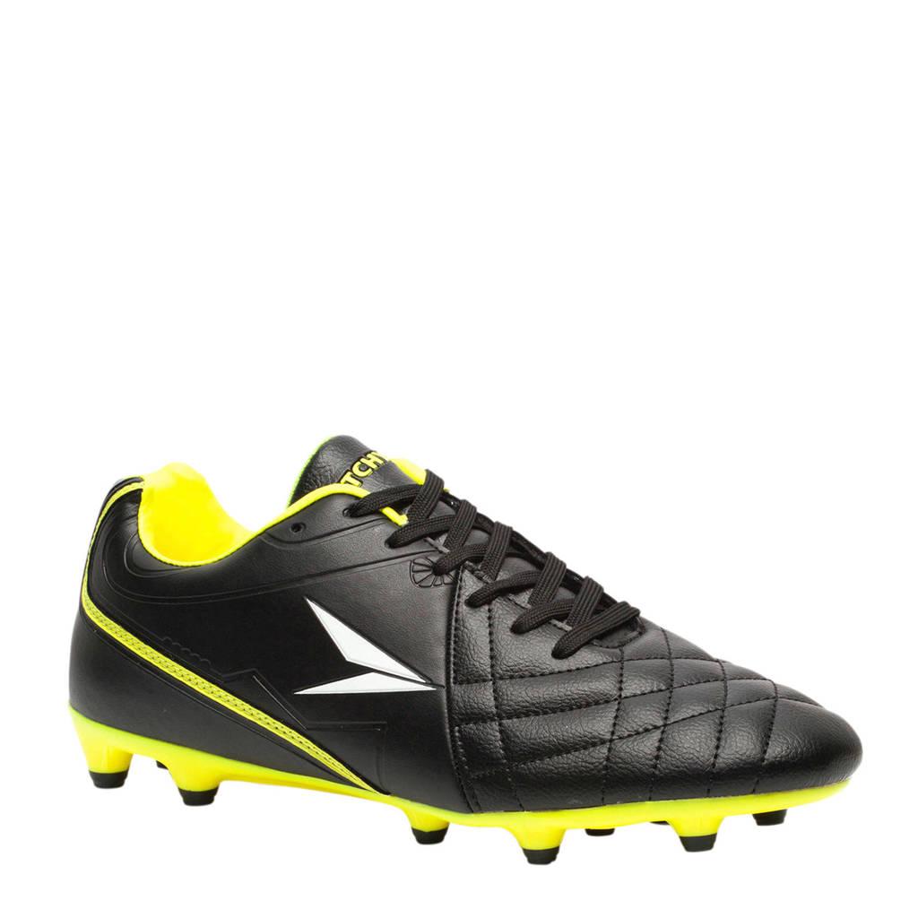 Scapino Dutchy FG voetbalschoenen zwart/geel, Zwart/geel