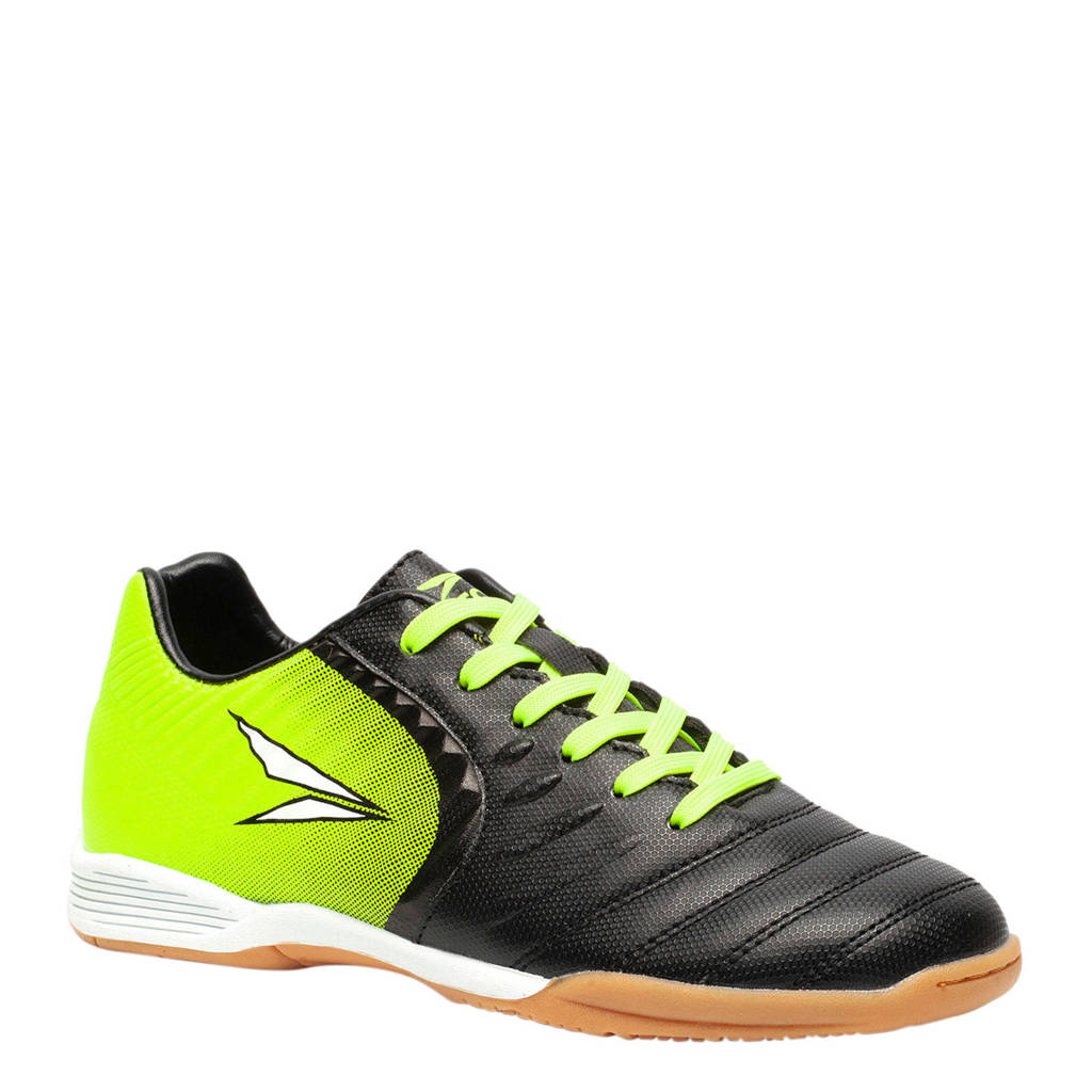 Scapino Dutchy zaalvoetbalschoenen zwart/groen, Zwart/groen