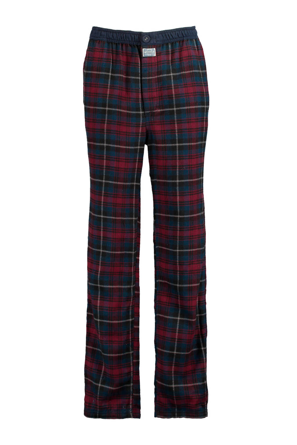 America Today Junior   geruite pyjamabroek Nath rood/blauw, Red/Blue