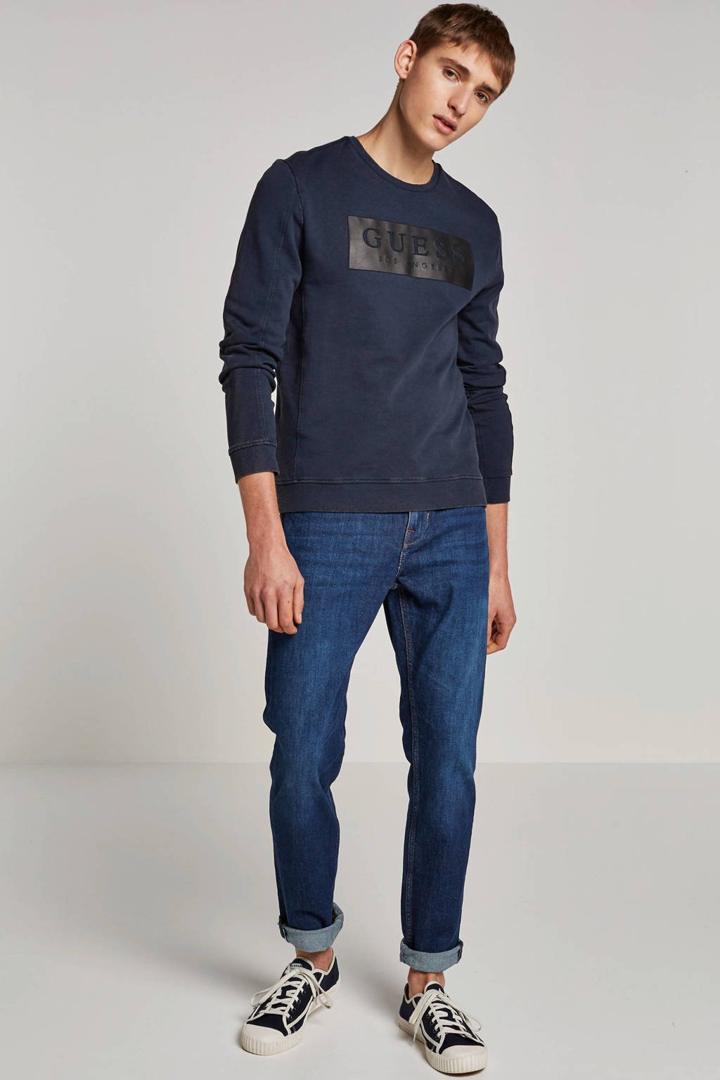 GUESS Sweater, Donkerblauw