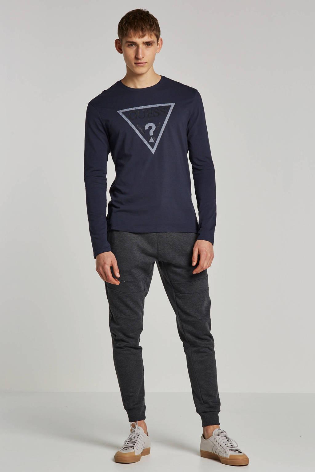 GUESS T-shirt lange mouw, Donkerblauw