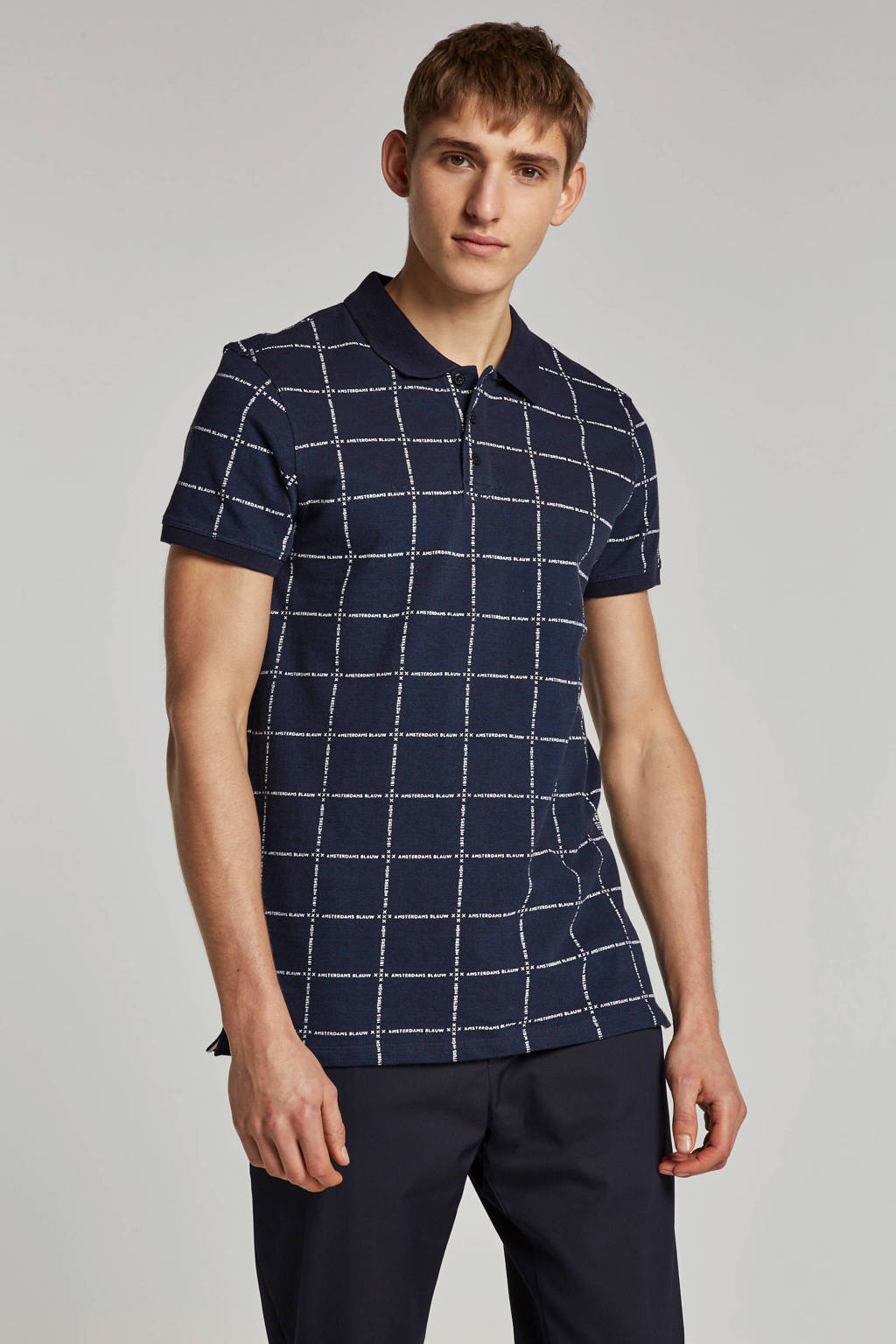 Scotch & Soda polo korte mouw, Donkerblauw