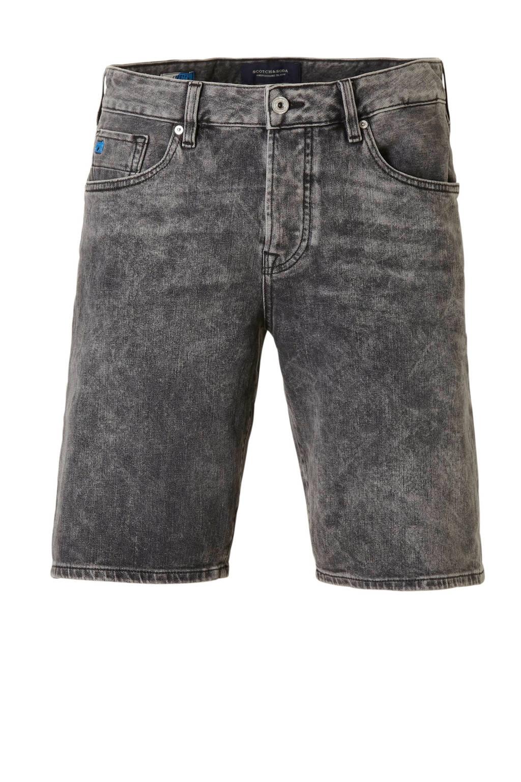 Scotch & Soda regular fit jeans short Ralston, Grijs