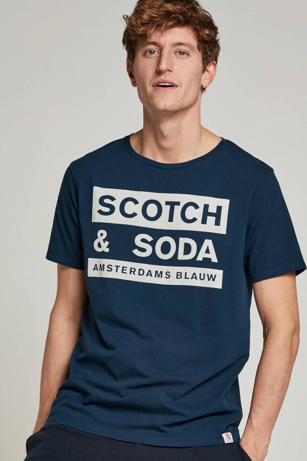 Scotch & Soda T-shirt, Blauw