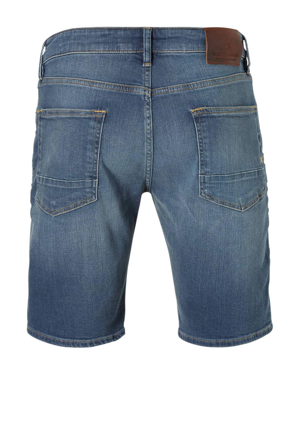 Scotch & Soda slim fit jeans short Ralston, Blauw