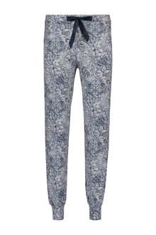pyjamabroek in all over print lichtgrijs