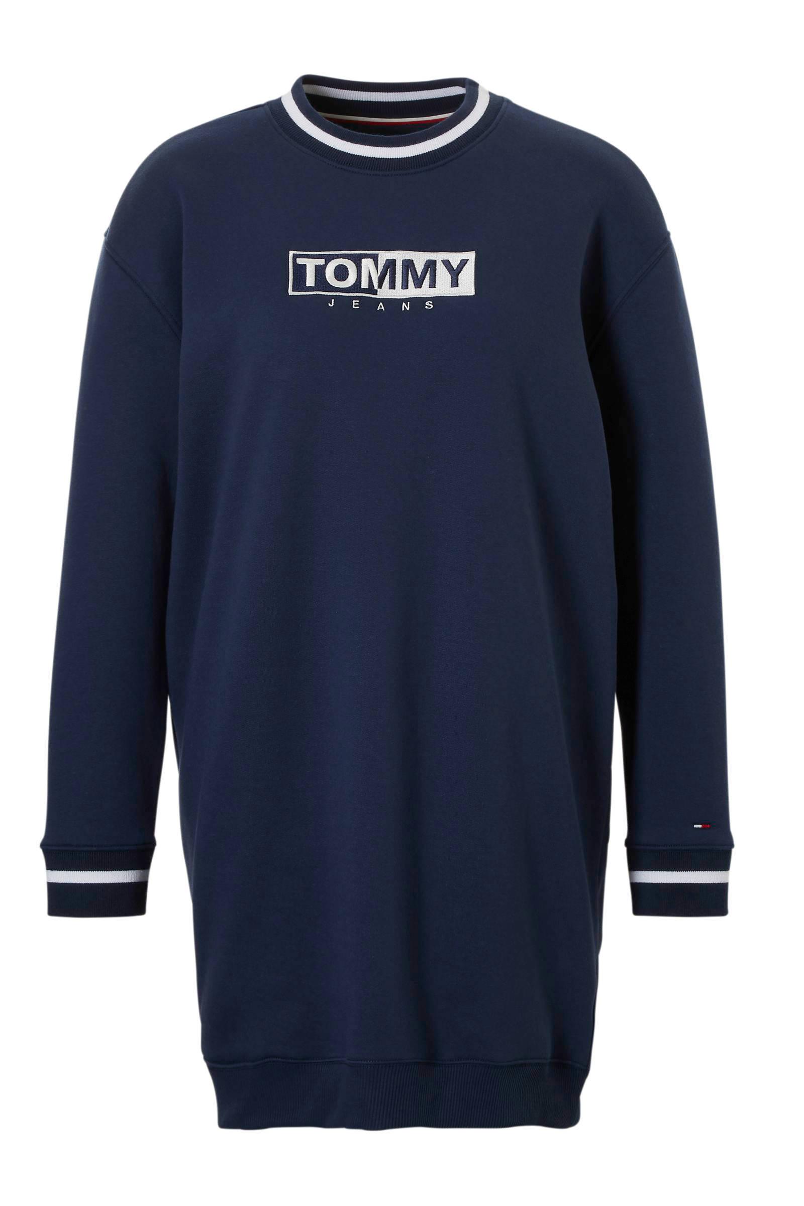 Jeans sweatjurk Jeans logo met Tommy sweatjurk Tommy met qIwF7g