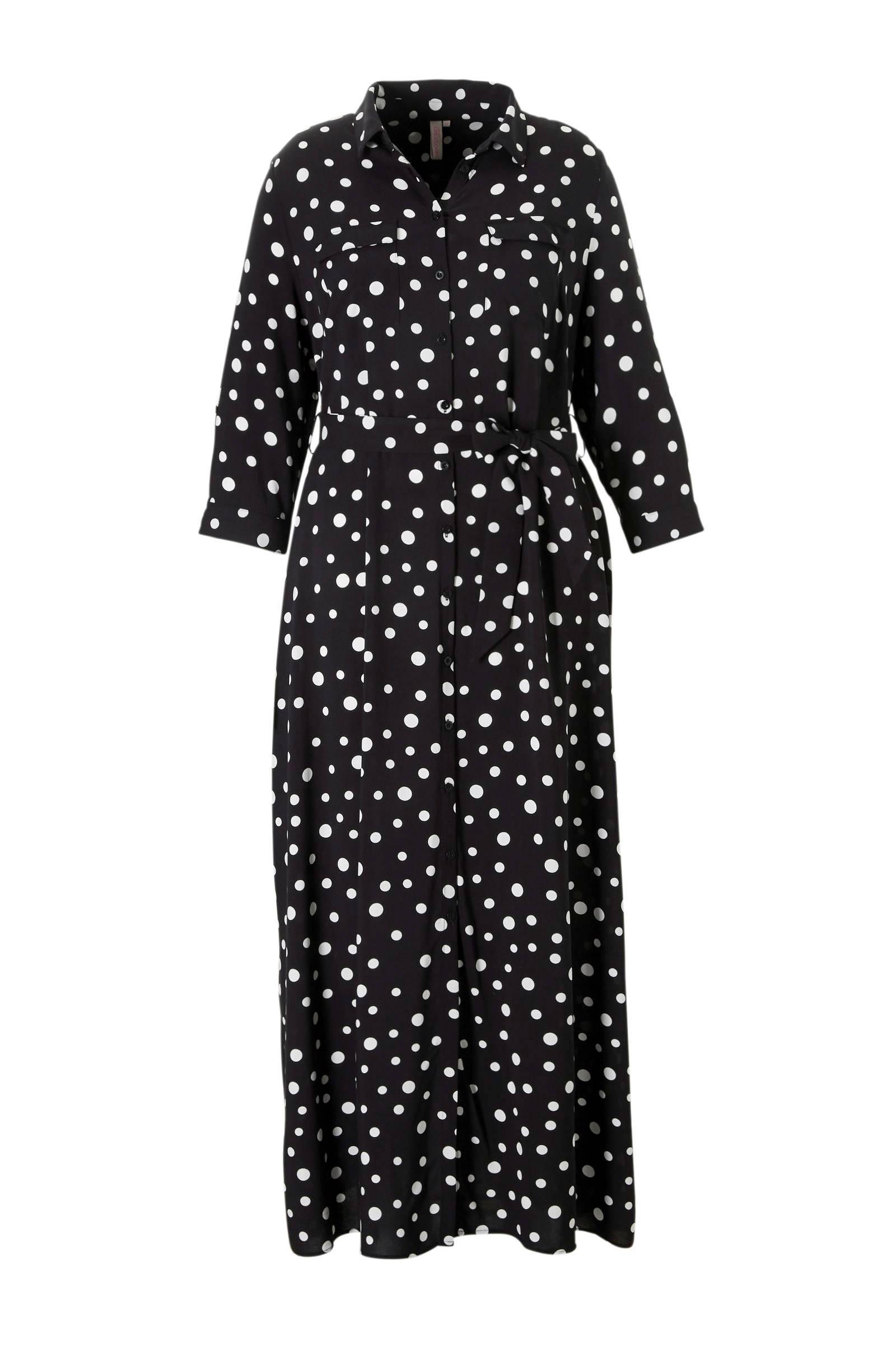 zwarte maxi jurk met lange mouwen