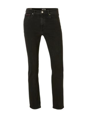 Izzy cropped slim fit jeans zwart