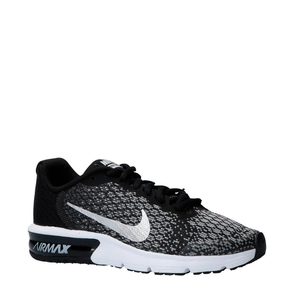 Nike  Air Max Sequent 2 (GS) sneakers zwart/grijs, Zwart/grijs/zilver