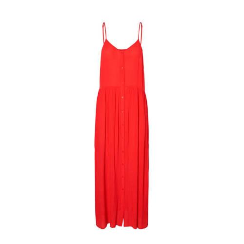 VERO MODA jurk in viscose rood