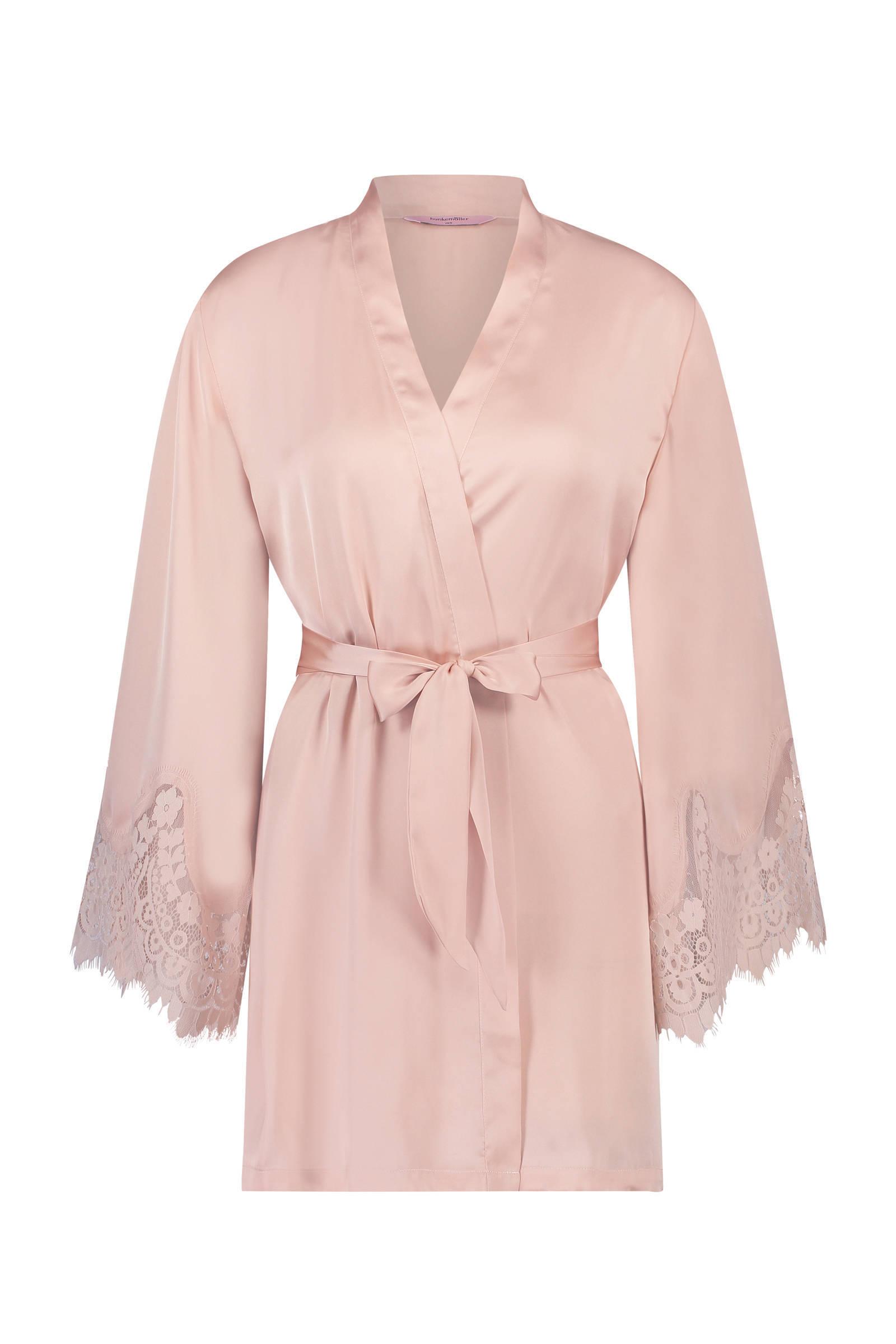 Hunkemöller  satijnen kimono roze