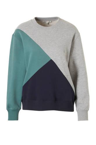 sweater Elin met blokprint
