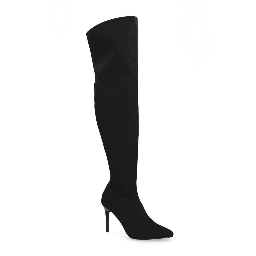 Sacha overknee sock boots zwart, Zwart