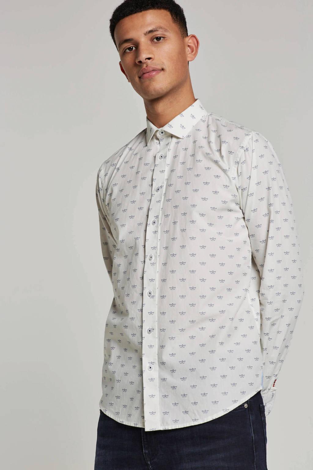 Haze & Finn slim fit overhemd, Wit