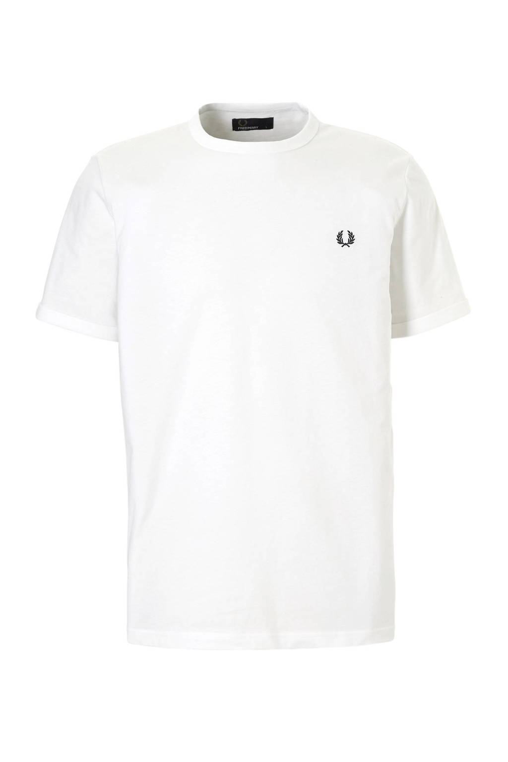 Fred Perry T-shirt wit, Wit