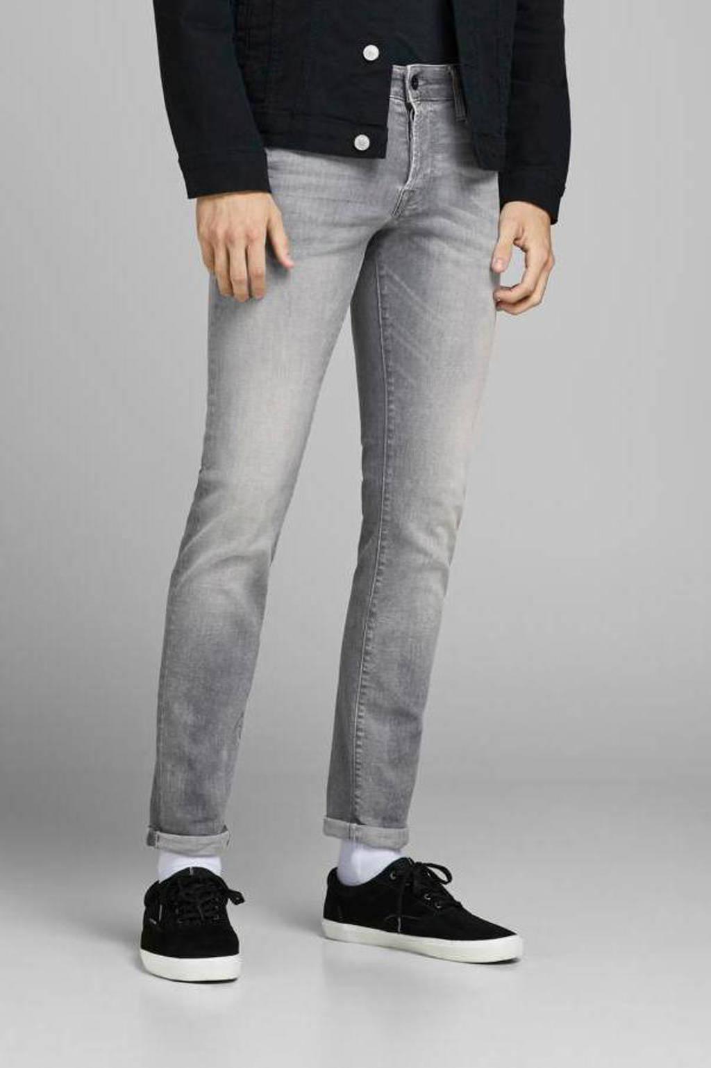 JACK & JONES JEANS INTELLIGENCE slim fit jeans JJIGLENN JJICON grey denim, Grey denim