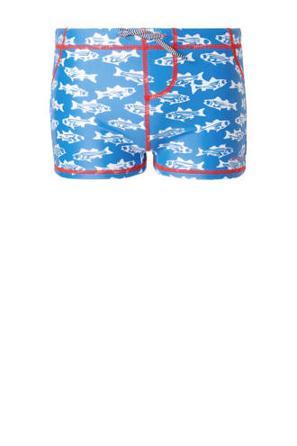 zwemboxer in all over print blauw