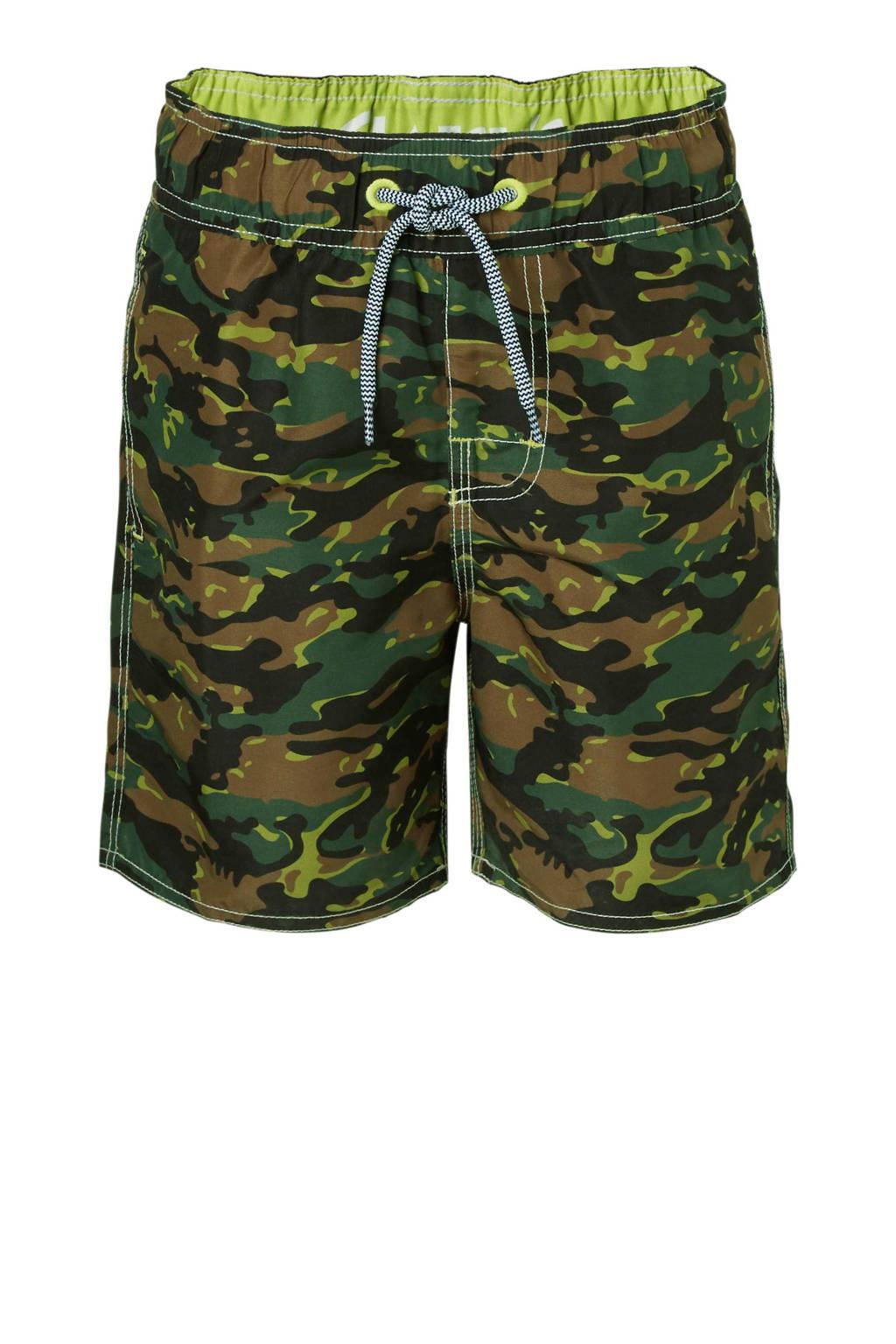Claesen's zwemshort camouflage, Legergroen/bruin