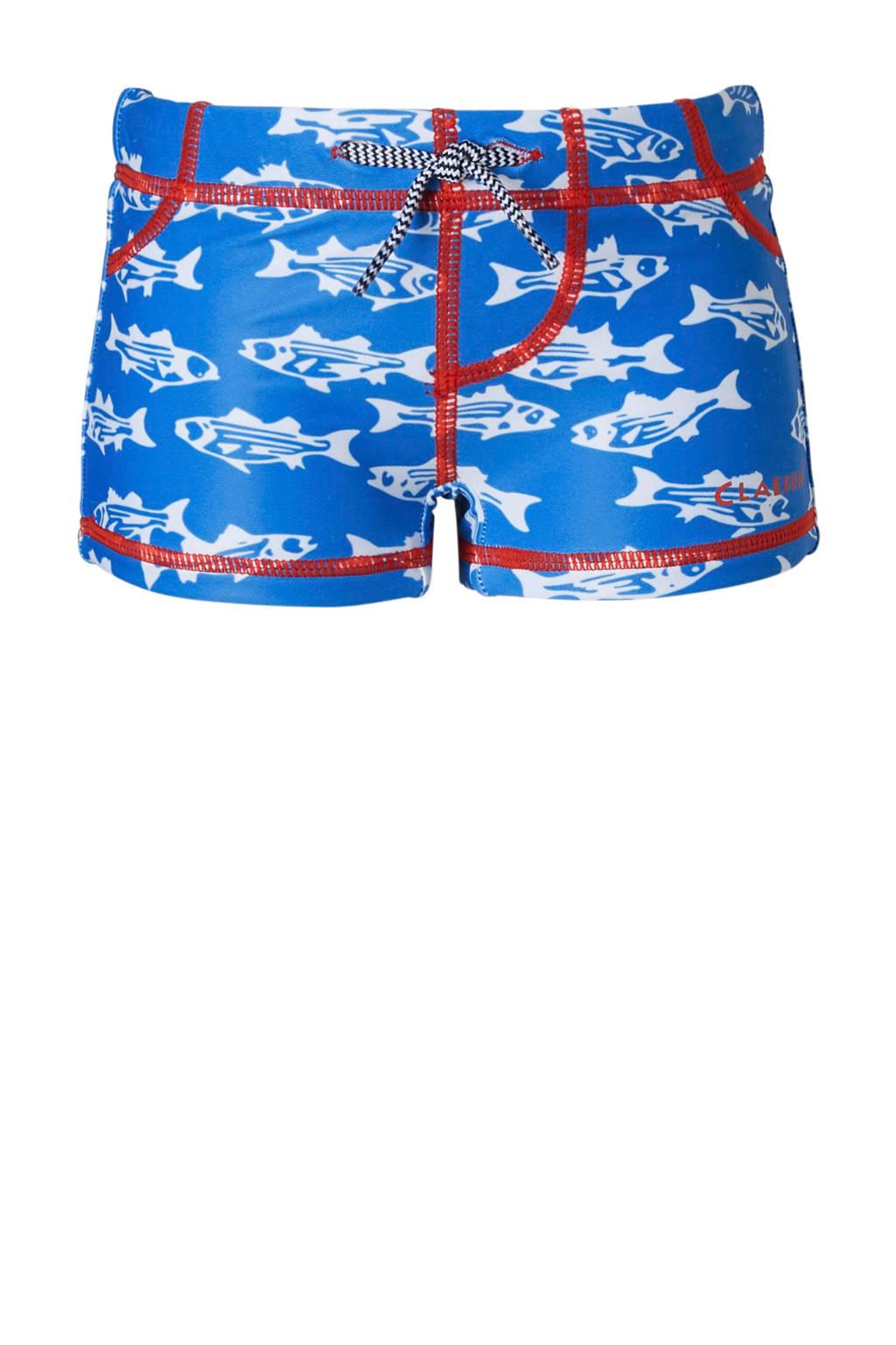 Claesen's zwemboxer vissen, Blauw/wit
