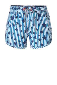 Claesen's zwemshort met sterren print blauw, Blauw/marine