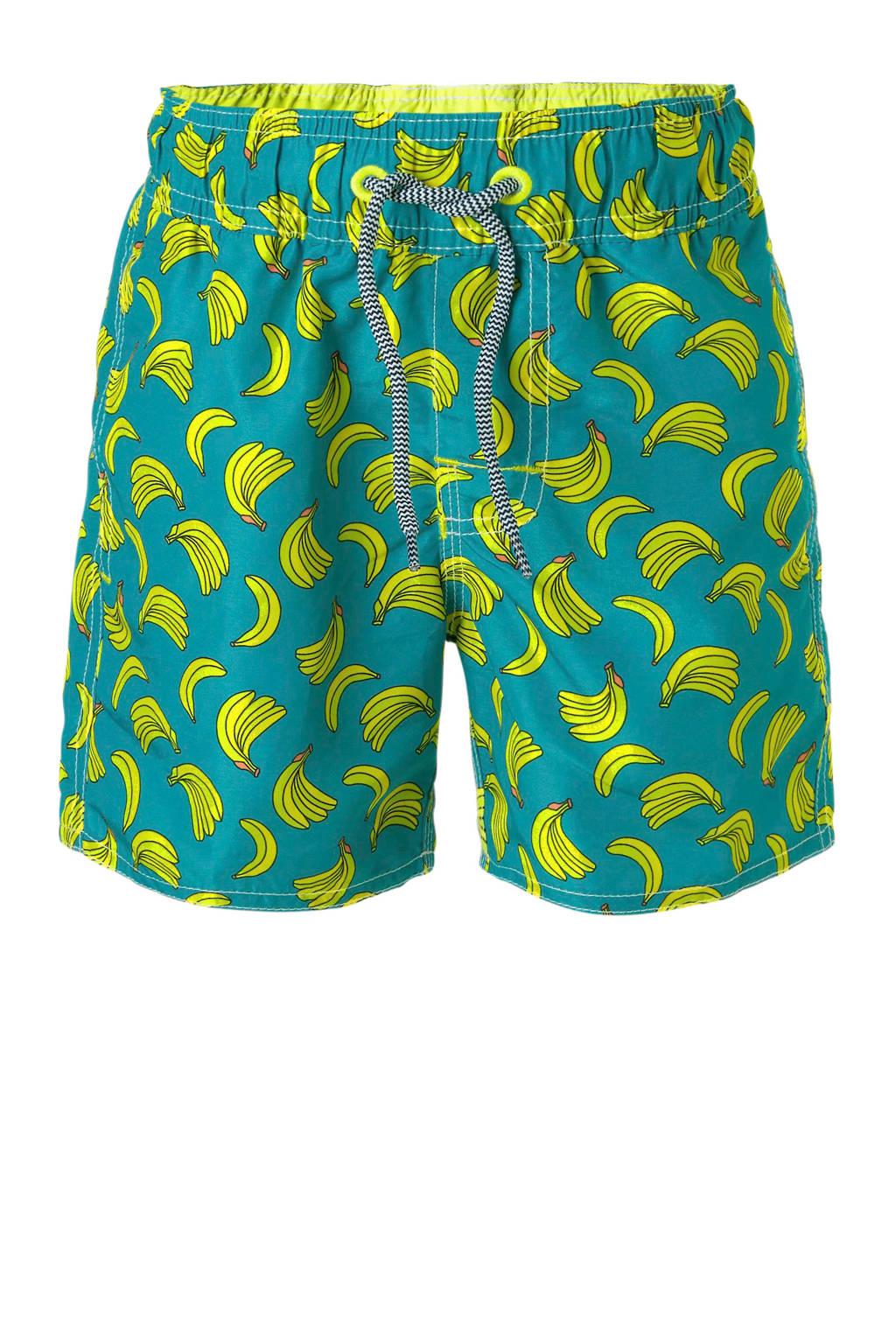 Claesen's zwemshort banaan, Blauw/geel