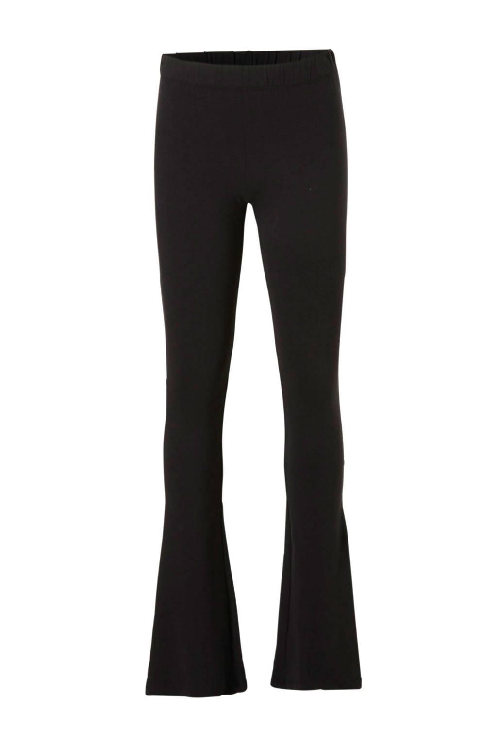 Geisha flared legging zwart, Zwart