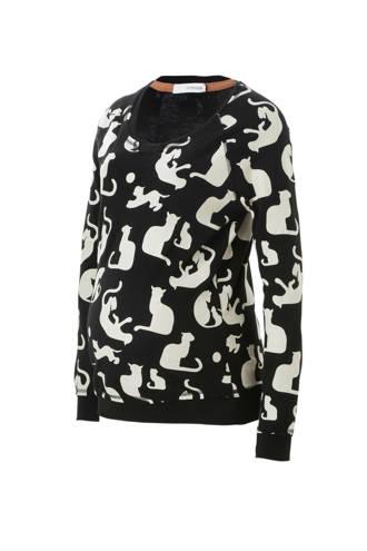 sweater met printopdruk