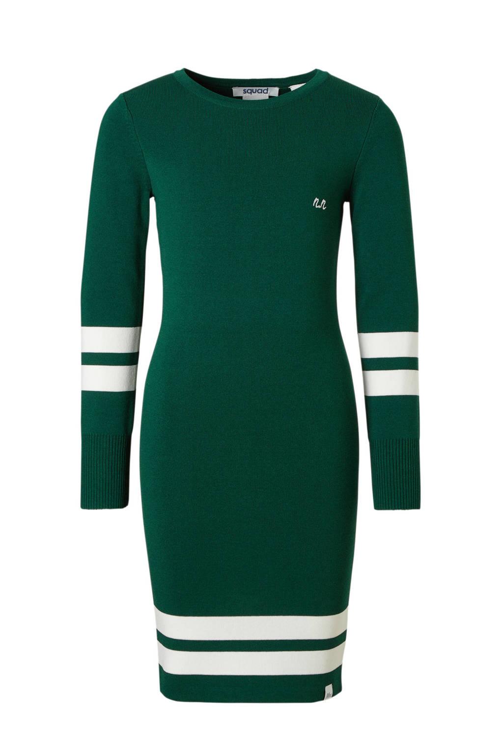 NIK&NIK jurk Jolie groen, Donkergroen/wit