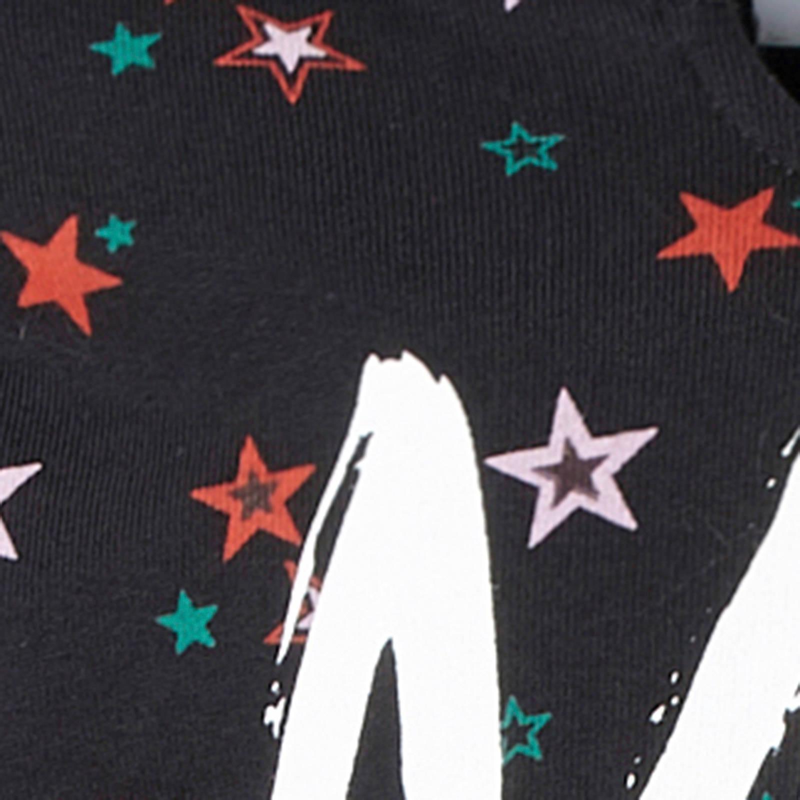 c4aac1f9ad0 NIK&NIK sweater met sterren en tekst zwart | wehkamp