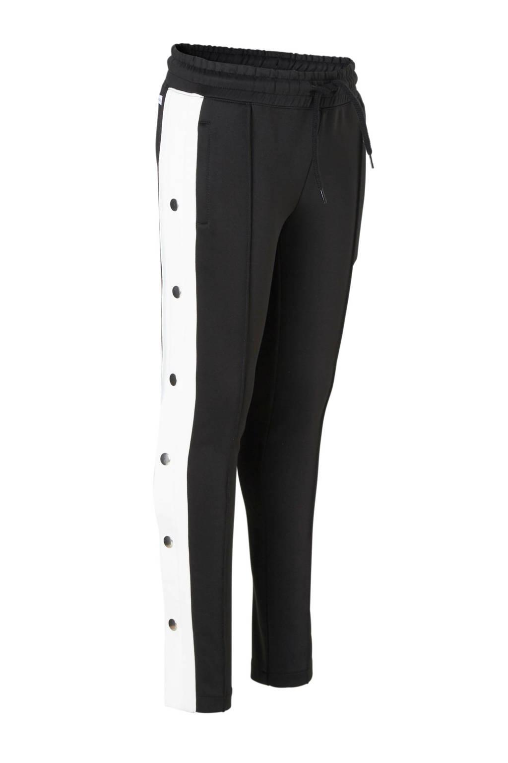 NIK&NIK sportieve broek Femi zwart, Zwart/offwhite