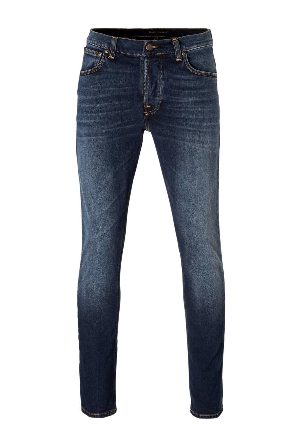 Nudie Jeans slim fit jeans Grim Tim ink navy, Ink navy