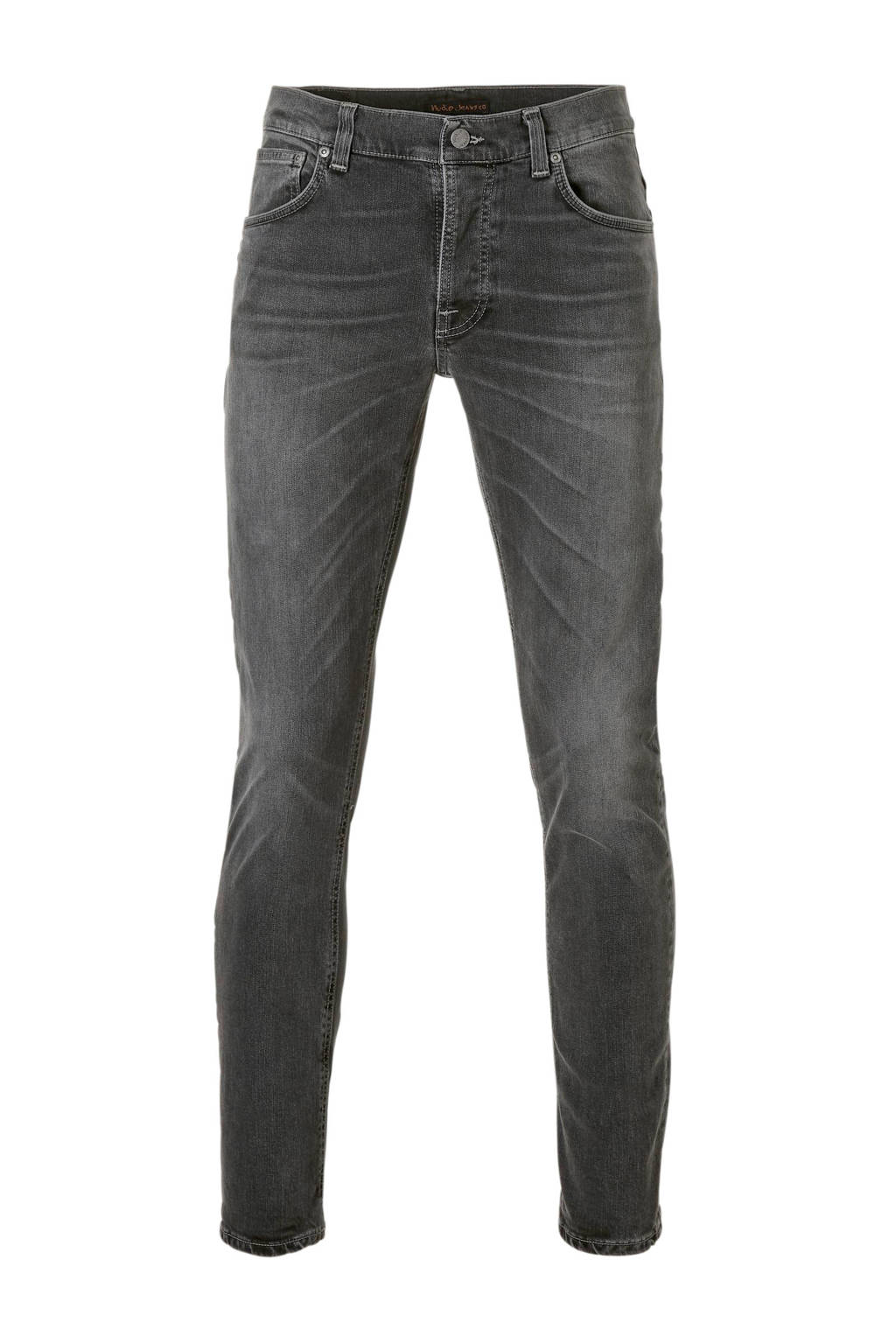 Nudie Jeans  slim Grim Tim jeans, Grijs