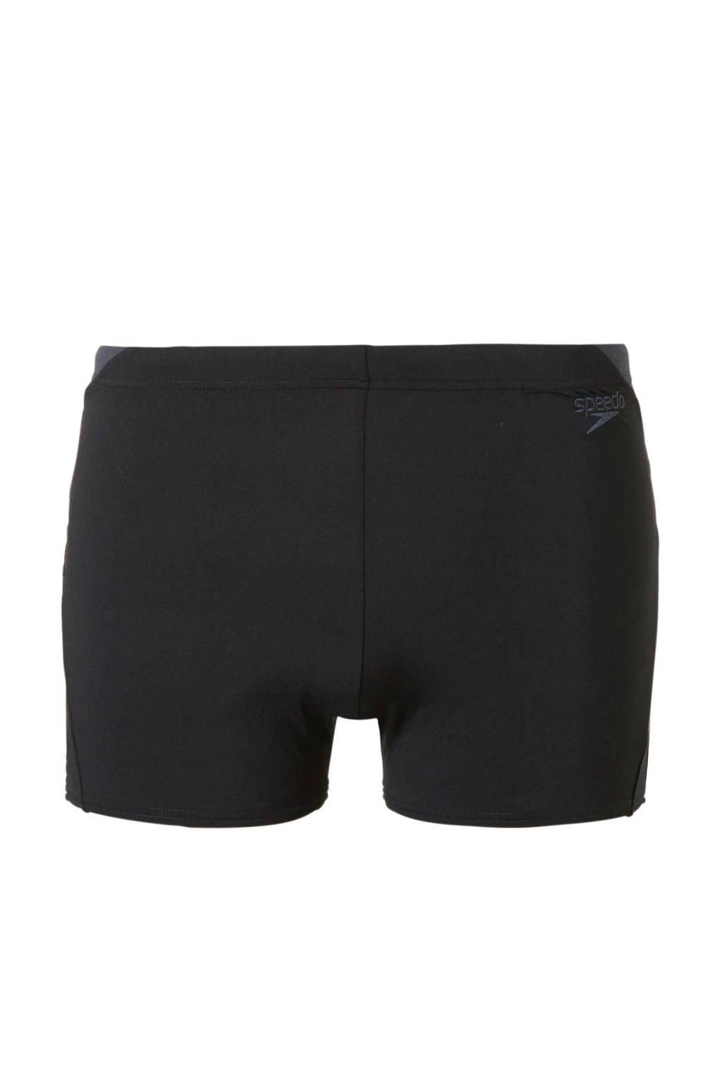 Speedo Endurance 10 zwemboxer zwart/grijs, Zwart/grijs