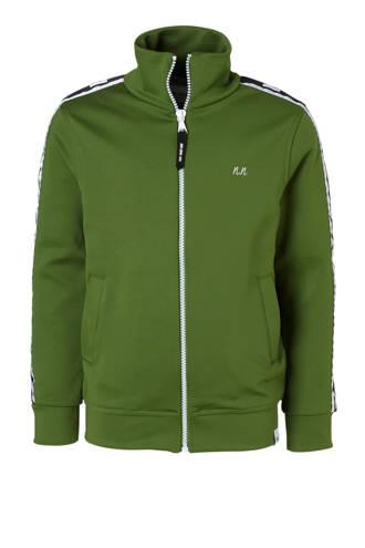 vest met contrastbies groen