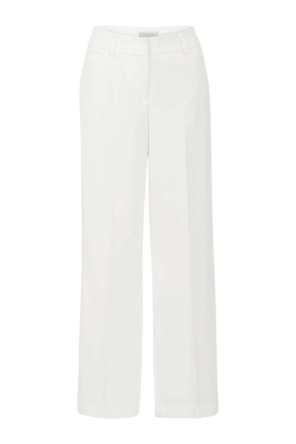 Promiss straight fit pantalon wit, Wit