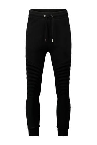 tapered fit sweatpants zwart