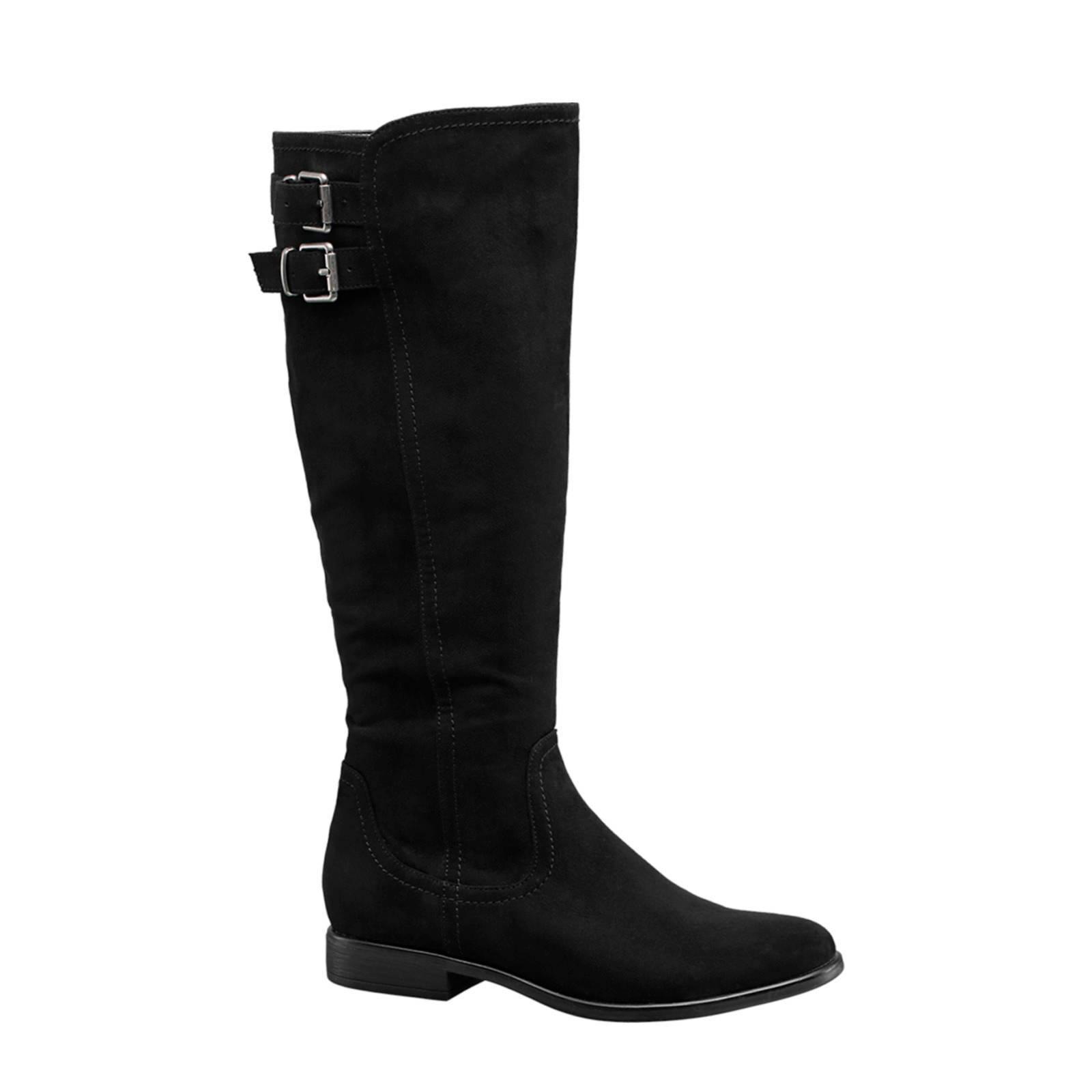laarzen zwart zonder hak