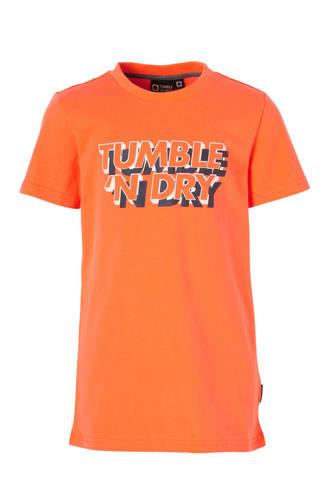 Mid T-shirt Fandor met logo oranje